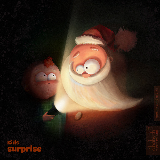 New Year card «Kids surprise»