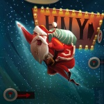 New Year card «Super Santa Claus»